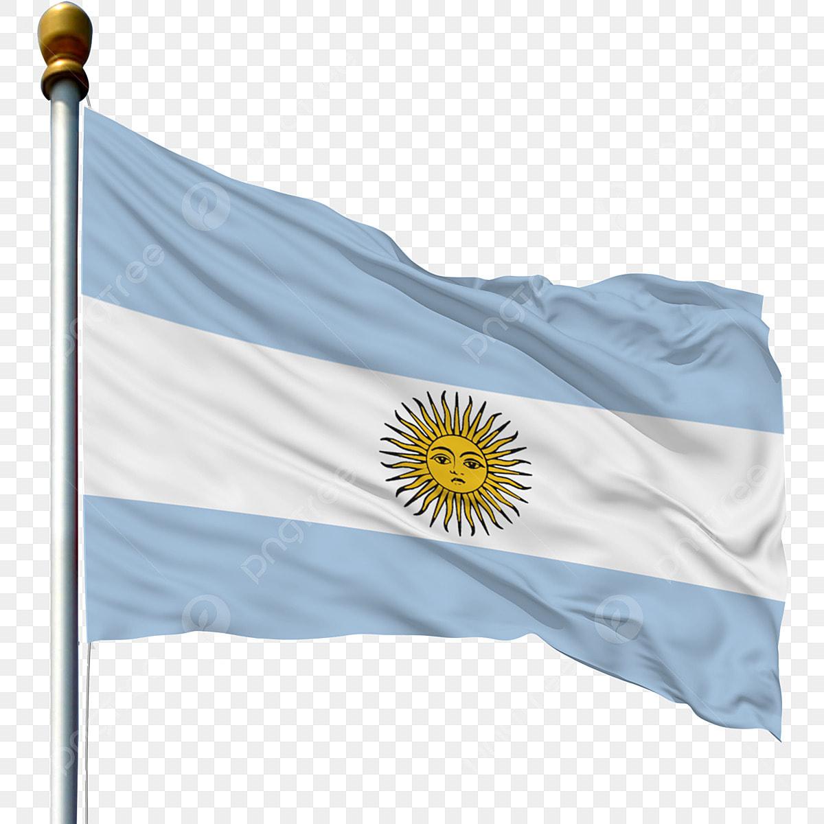 Argentina National Flag Waving Flag Flagpole Flag Flagpole With