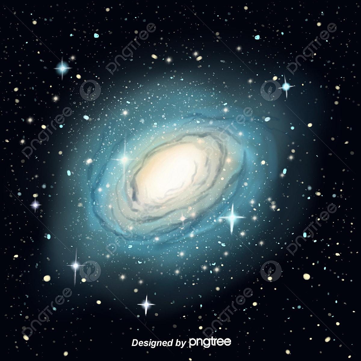 Atmospheric Hand Painted Black Night Sky Stars Background Stars