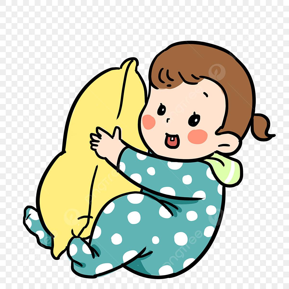 Kartun Bayi Bayi Bermain Lulus Tangan Ilustrasi Ditarik