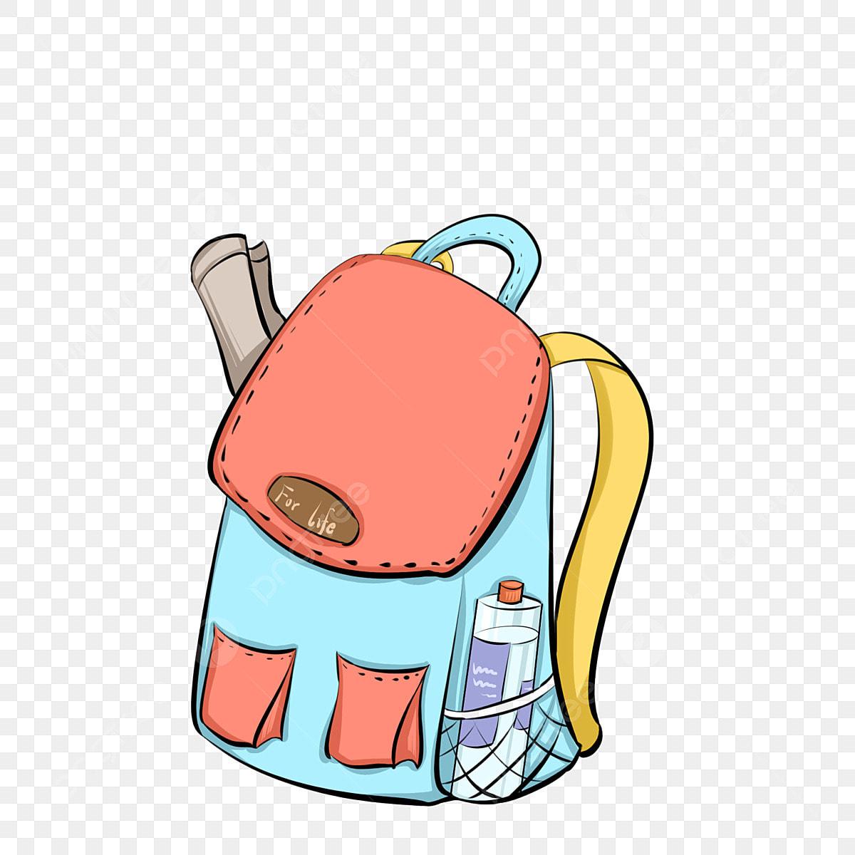 Rucksack Paket Handgemalter Rucksack Umhangetasche Abbildung Rucksack Clipart Farb Tasche Rot Png Und Psd Datei Zum Kostenlosen Download