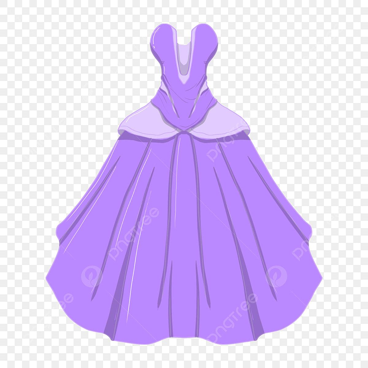 53defc1b7 Hermoso Vestido De Novia Ilustración Púrpura De La Boda Ropa Hermosa ...
