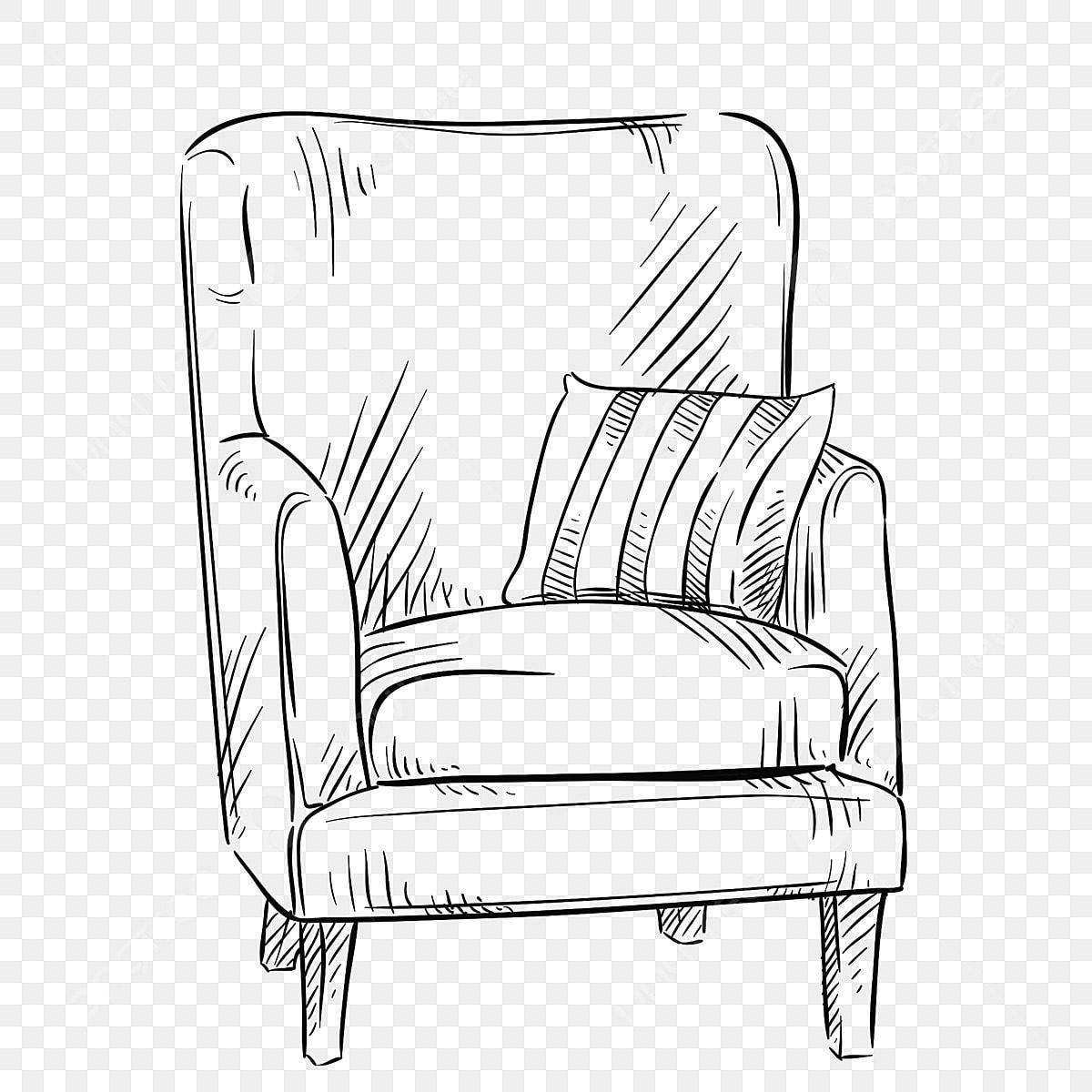 Black And White Furniture Graffiti Furniture Line Drawing