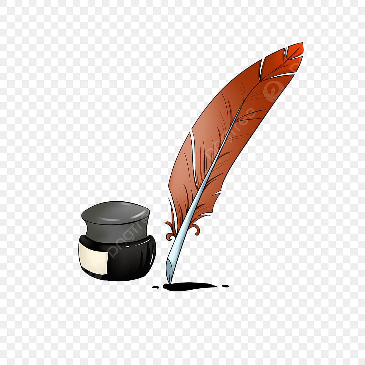 Encre Noire Plume Brune La Plume Peut être écrite