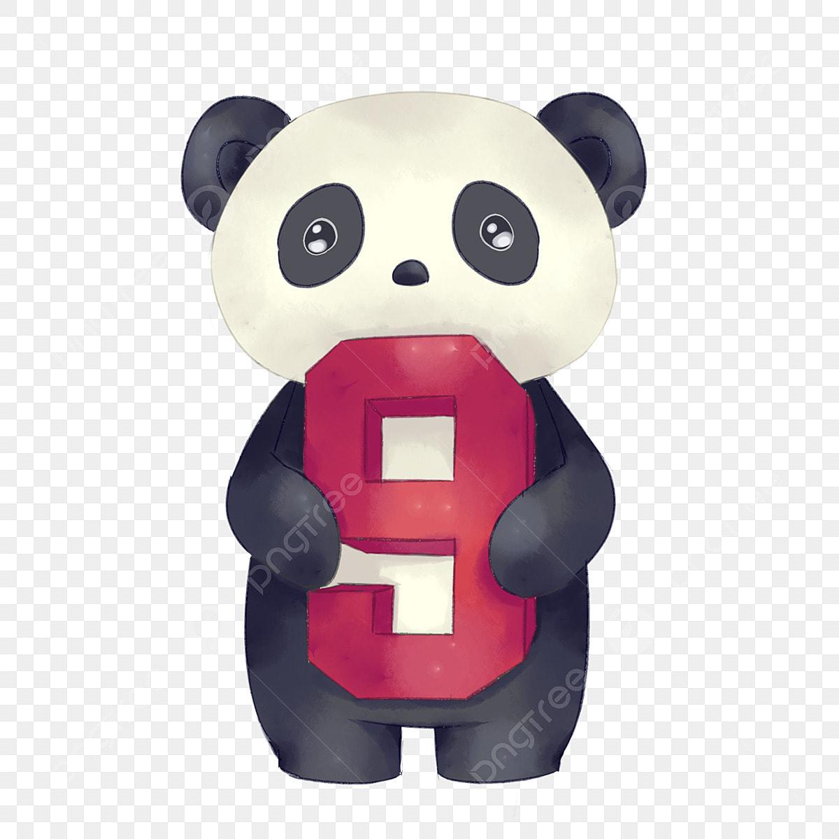 Petit Panda Noir Mignon Petit Panda Dessin Animé Petit Panda