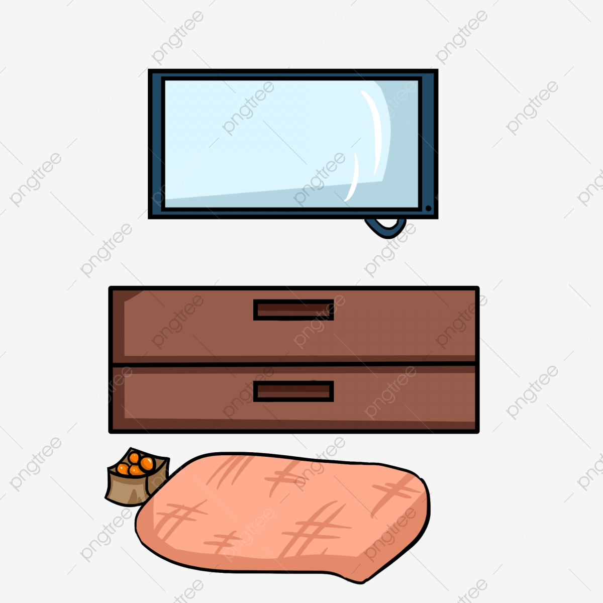 Coffee and TV Clip Art