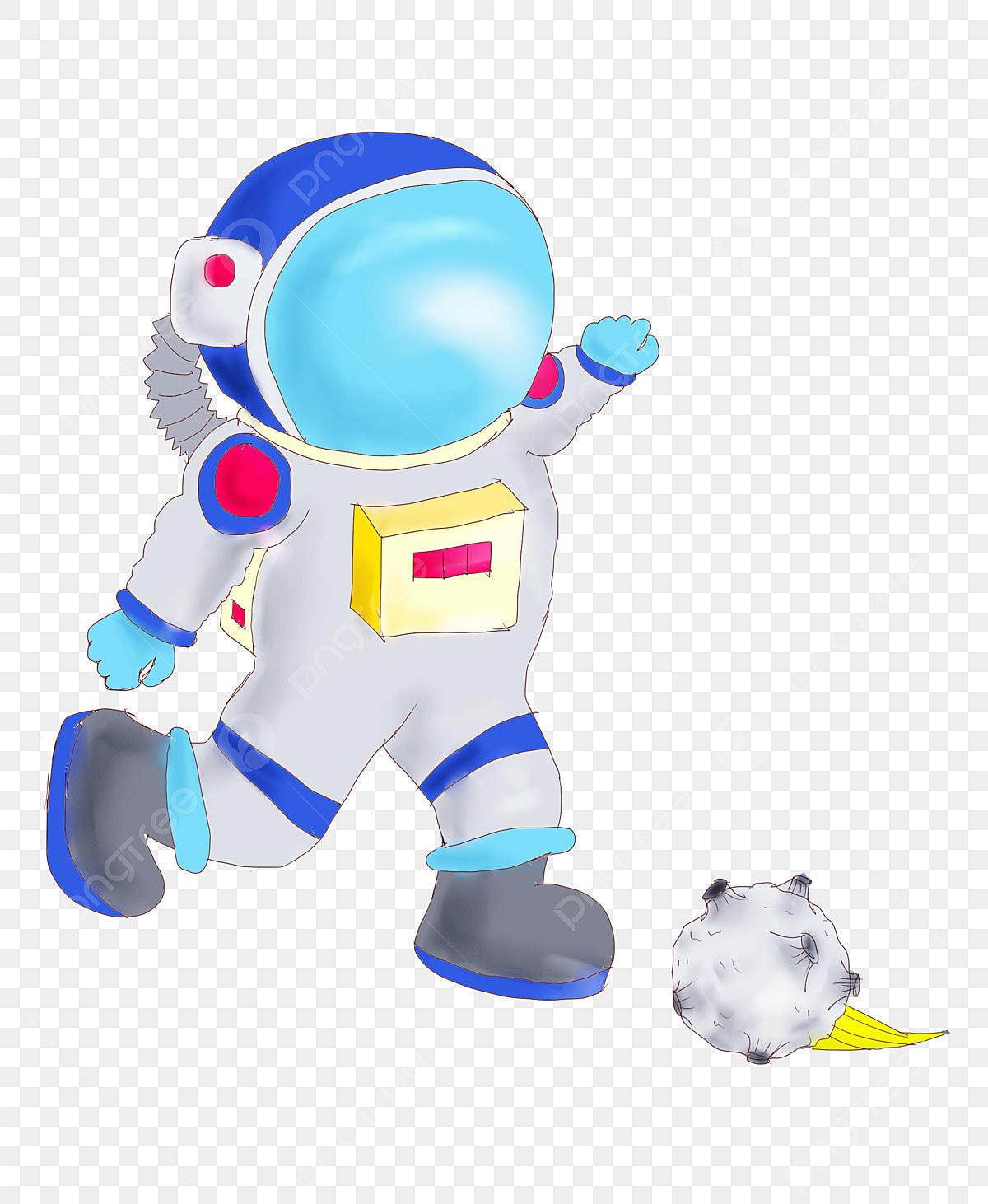 Blue Space Suit Cartoon Space Suit Space Suit Illustration