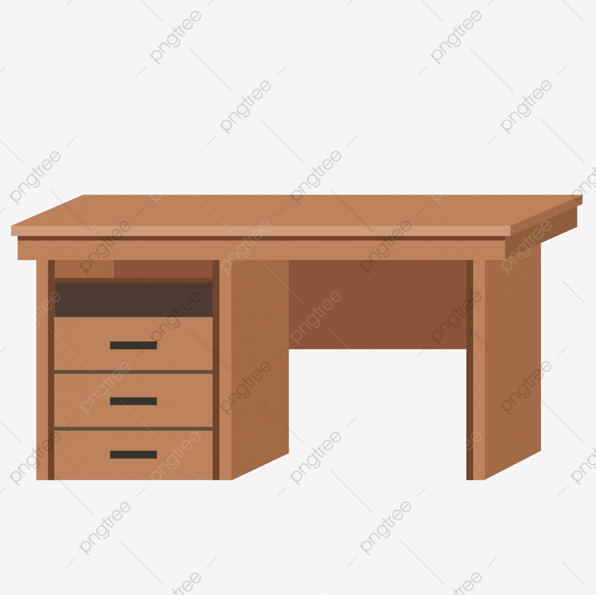 Brown Computer Desk Cartoon Table Cabinet Illustration Table Illustration Brown Cabinet Small Cabinet Small Table Png Transparent Clipart Image And Psd File For Free Download