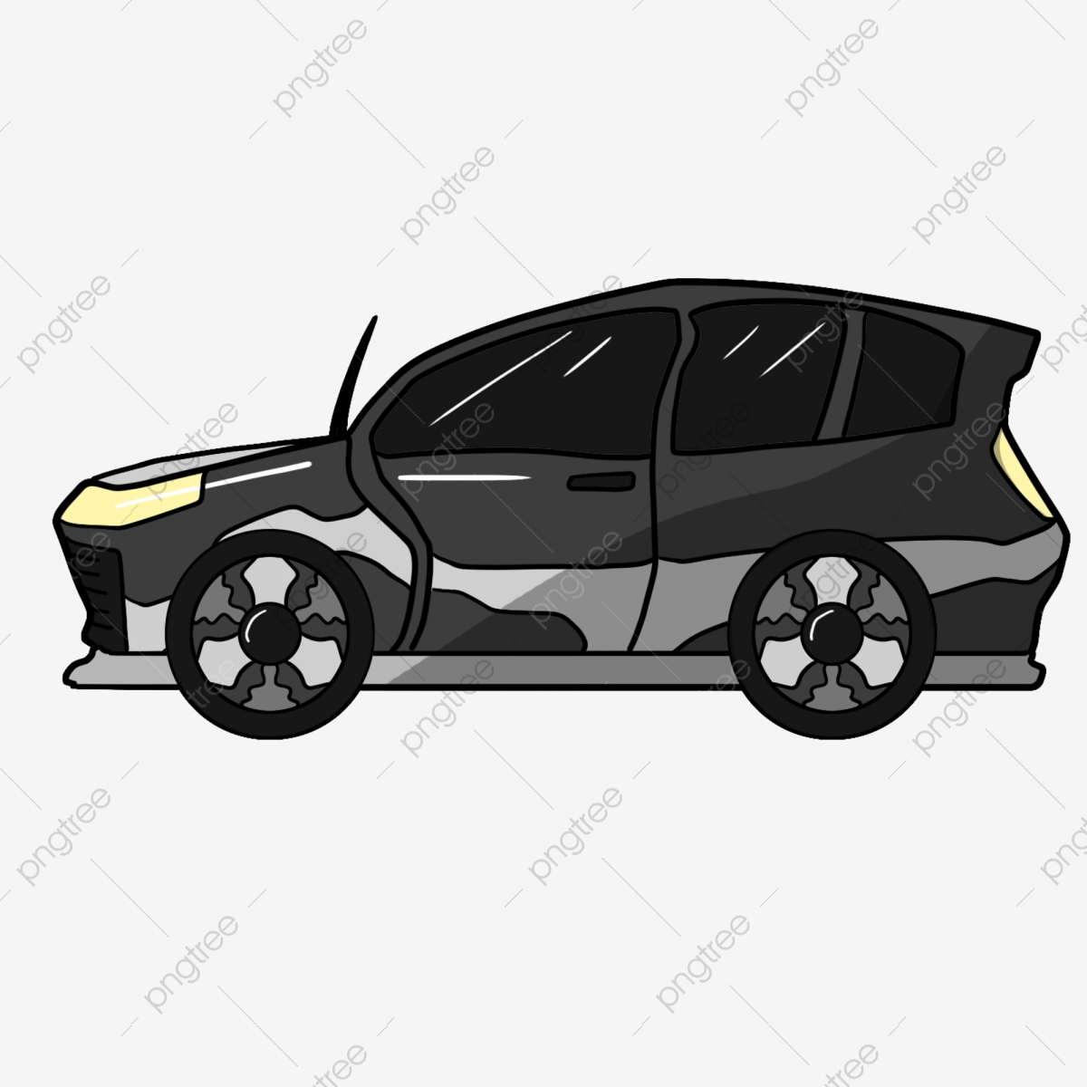 Cartoon Car Car Cartoon Cartoon Car Travel Black Outdoor Car Png Transparent Clipart Image And Psd File For Free Download