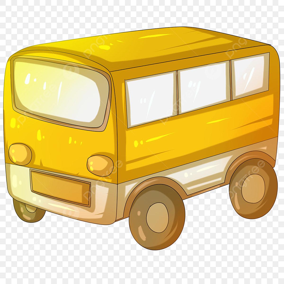 Voiture De Dessin Animé Van Véhicule Autobus Scolaire De