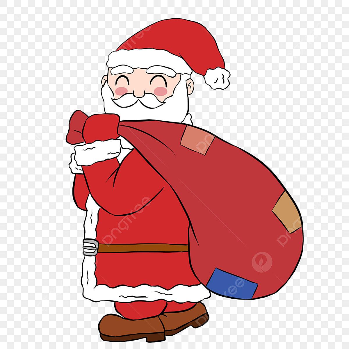 Imagenes De Papa Noel Animado.Dibujos Animados De Navidad Papa Noel De Nuevo Regalo