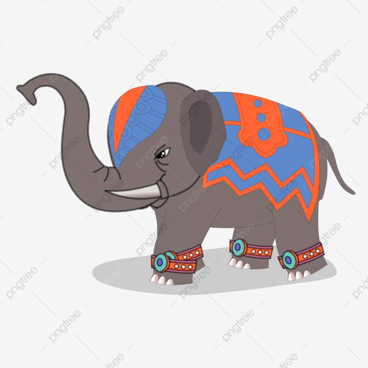 Cartoon Elephant Thailand Animal Elephant Clipart Travel Abroad Royal Elephant Png And Vector With Transparent Background For Free Download