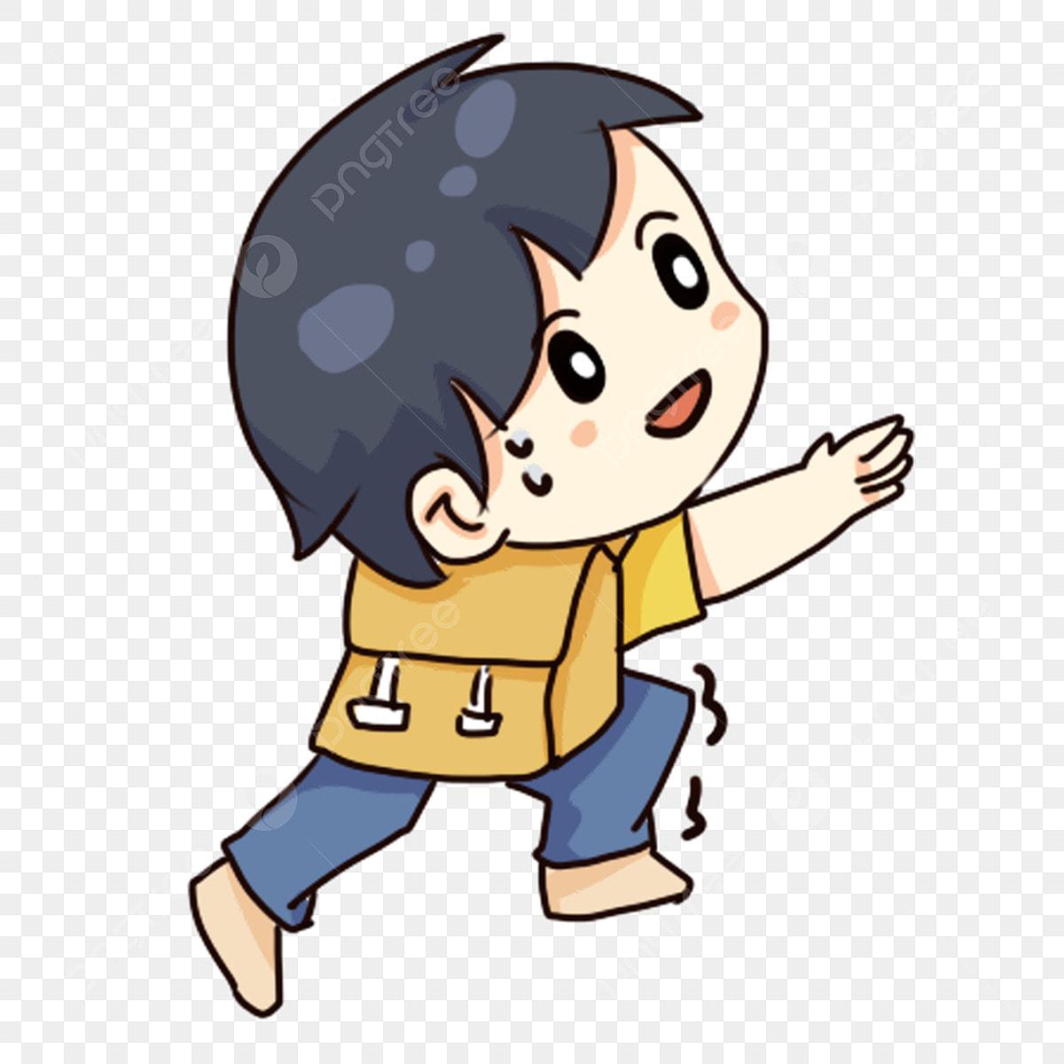 9781634bb62 Caricatura dibujado a mano niño escalar una montaña montañismo Ascend  Childrens Day Childrens Day Play Gratis PNG y PSD