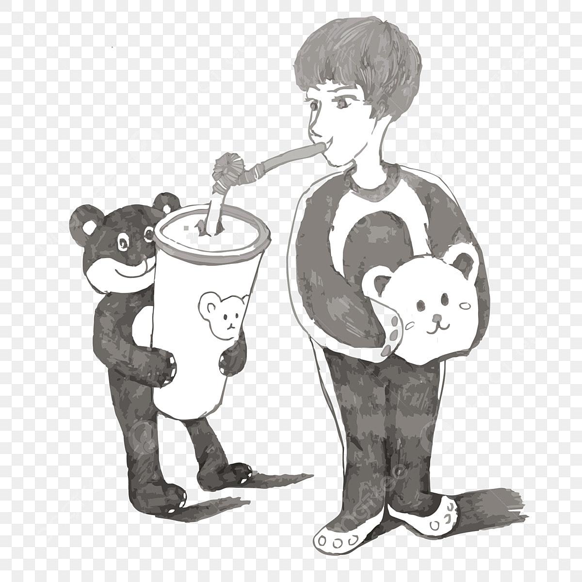Mao Dos Desenhos Animados Desenhada Verao Bonequinha De Urso