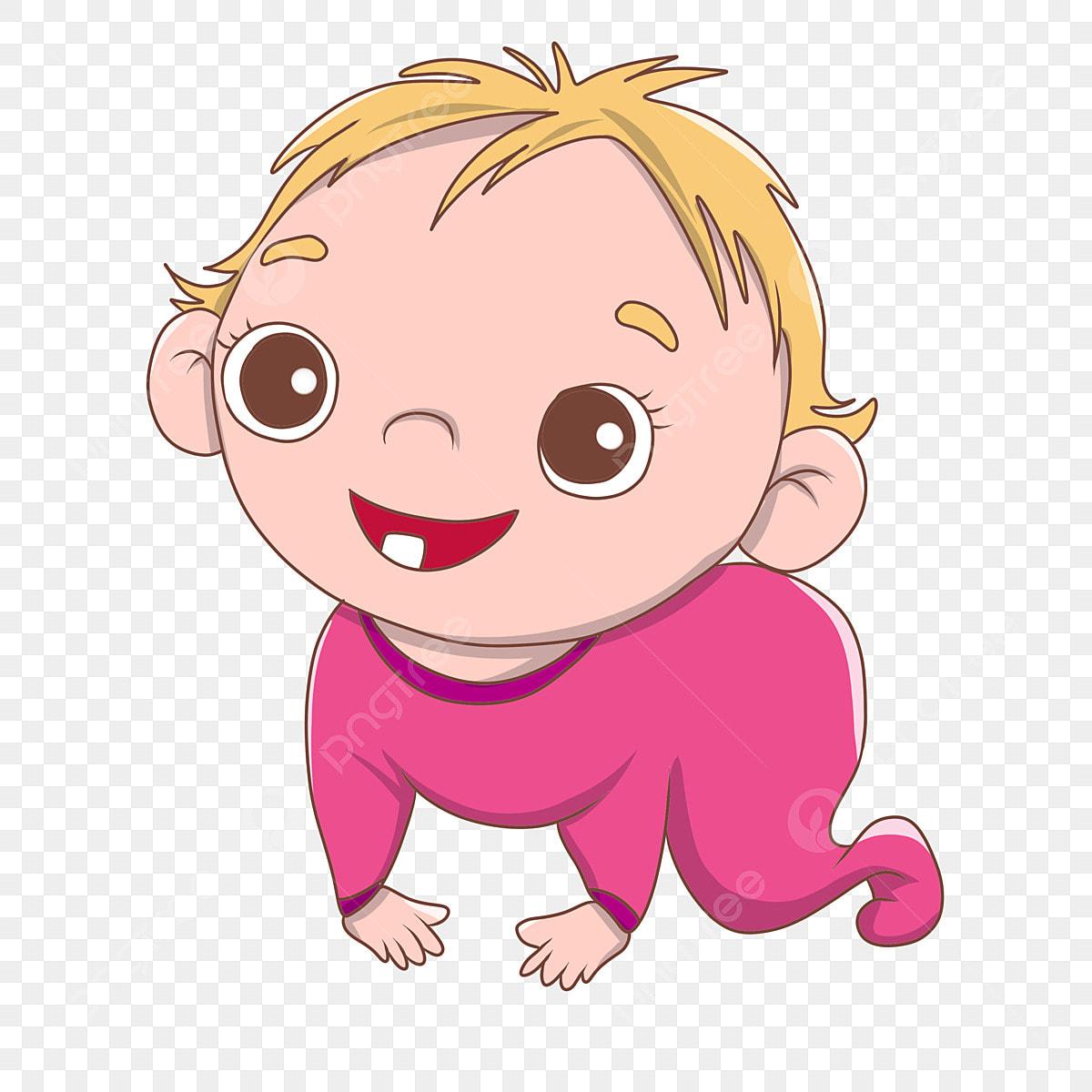 Dessin Animé Mignon Bébé Mère Et Bébé Joli Bébé Bébé