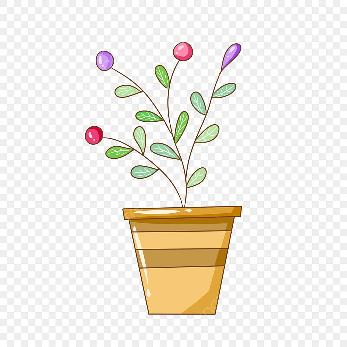 Potenciometro De Flor Amarela Dos Desenhos Animados Fruteiras