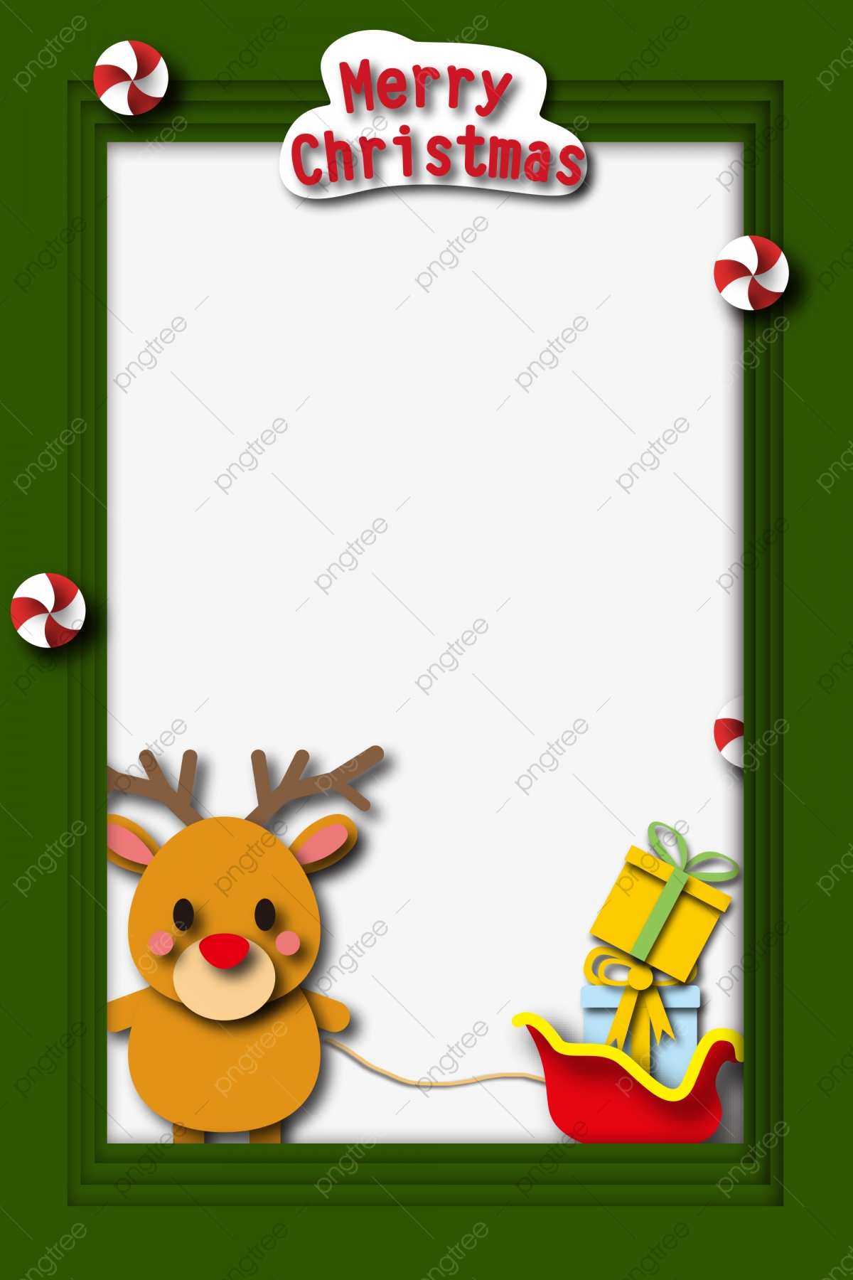 Christmas Border Illustration Yellow
