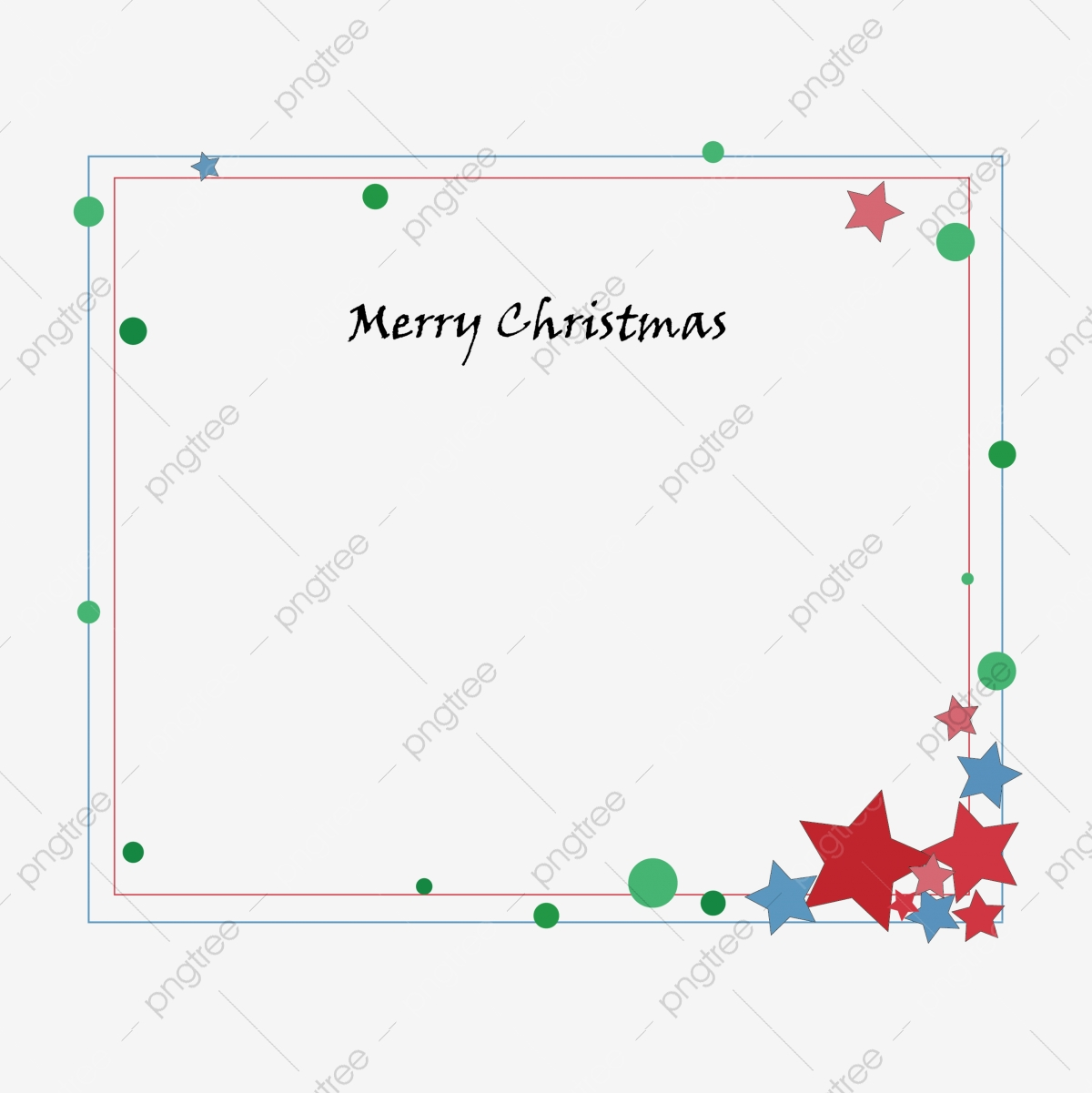 Christmas Lovely Fresh Air Frame Greeting Card Border Christmas Decoration Green Red Png And Vector With Transparent Background For Free Download