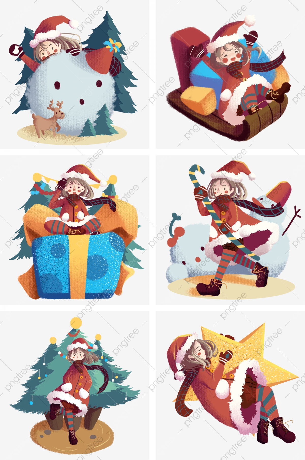 Cute Christmas Gifts For Girlfriend.Christmas Scene Cute Girl Girl With Christmas Hat Christmas