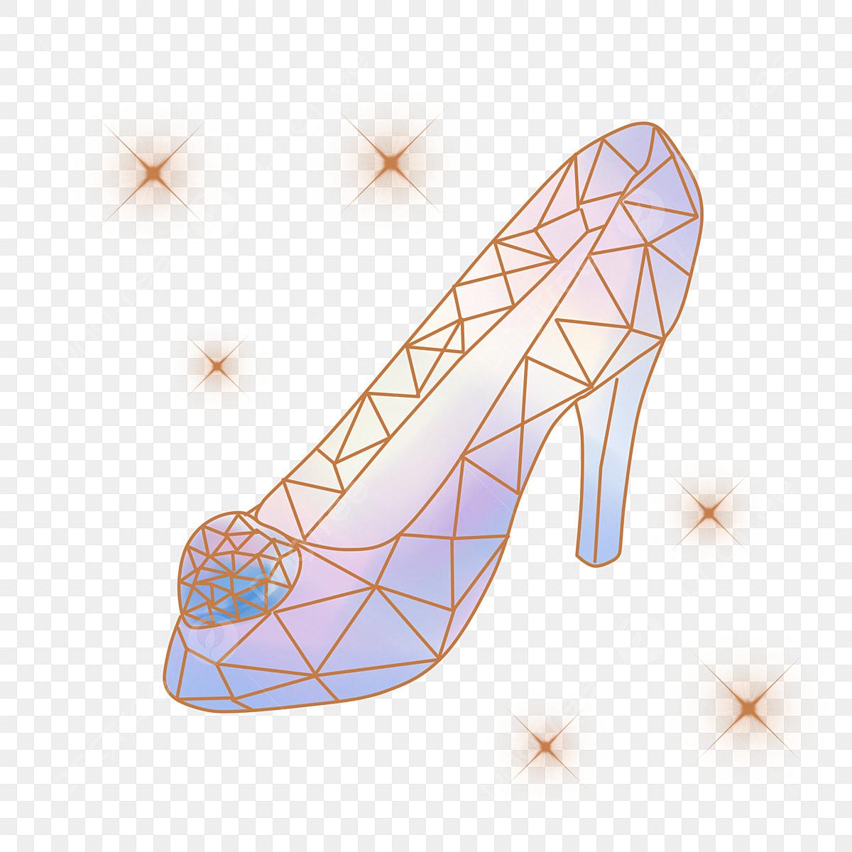 Картинка хрустальная туфелька распечатать