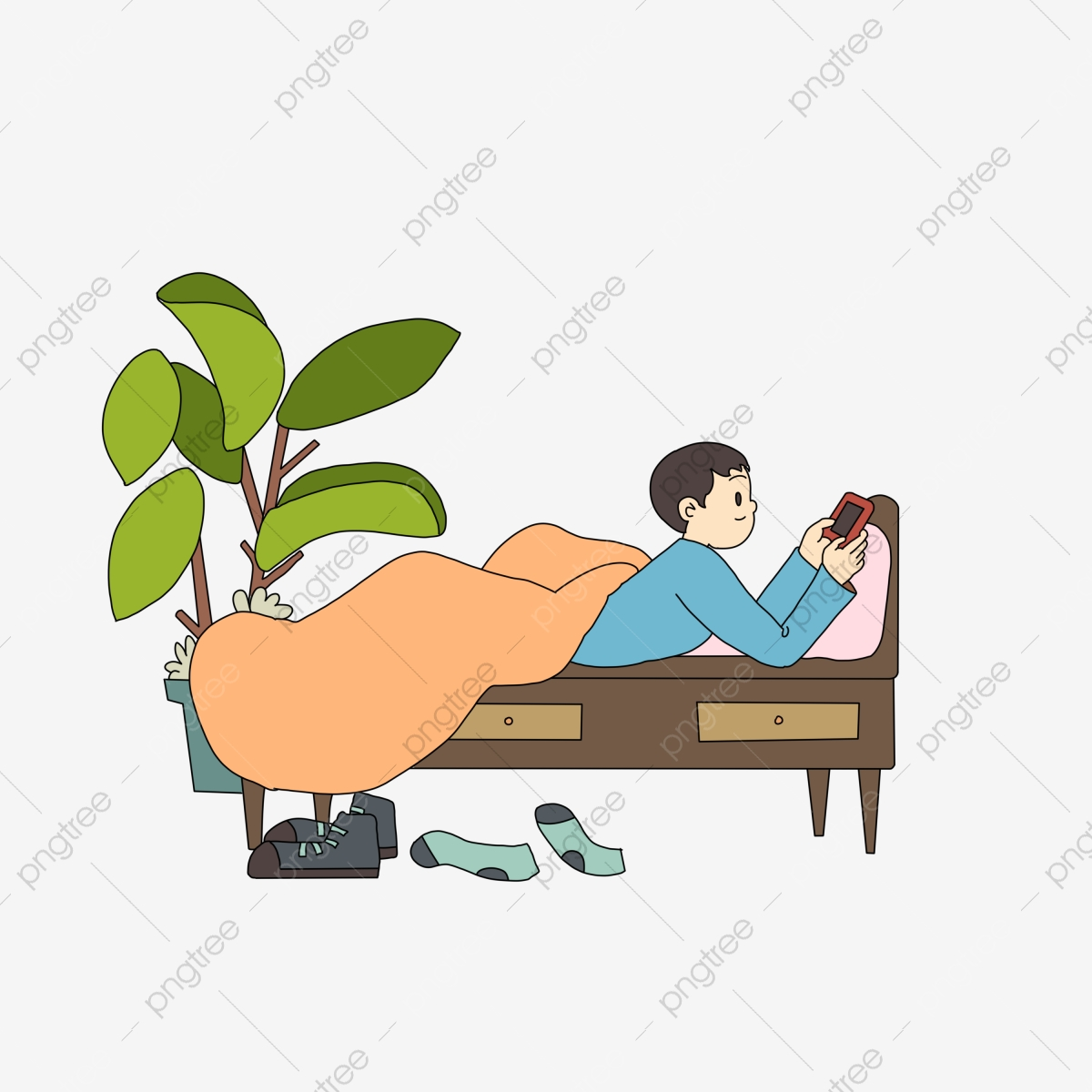 Cute Girl Reading Book In Bed Vector Illustration Stock Vector -  Illustration of literature, hobby: 142484393