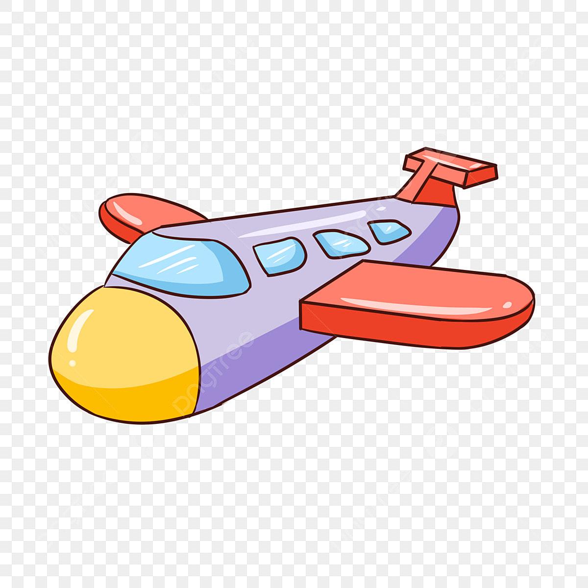 Piccolo aereo colorato aereo piccolo aereo aeroplano disegnato a