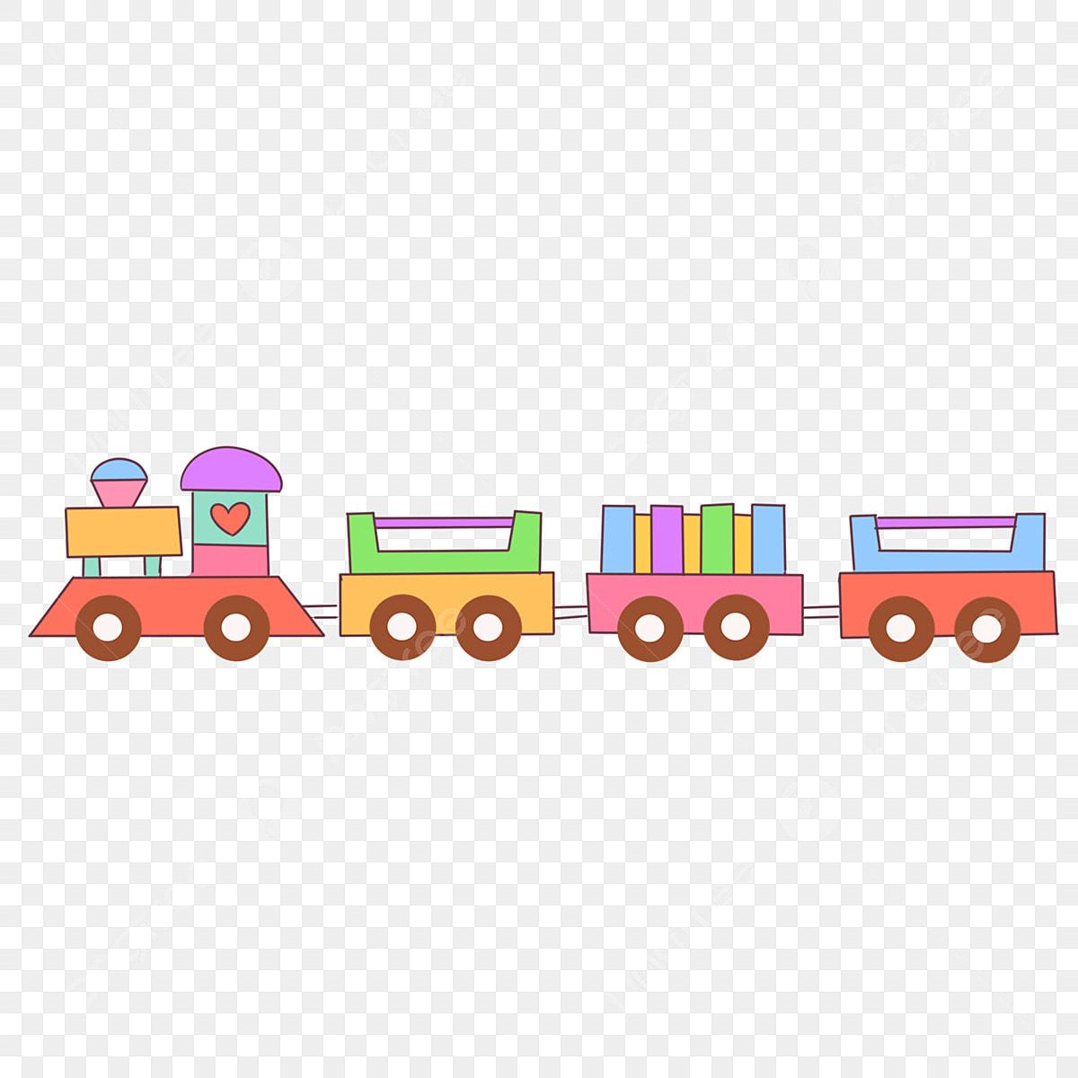 قطار ملون قطار صغير جميل قطار مرسوم باليد قطار الكرتون زخرفة قطار صغير لعبة قطار صغيرة قطار ملون Png وملف Psd للتحميل مجانا