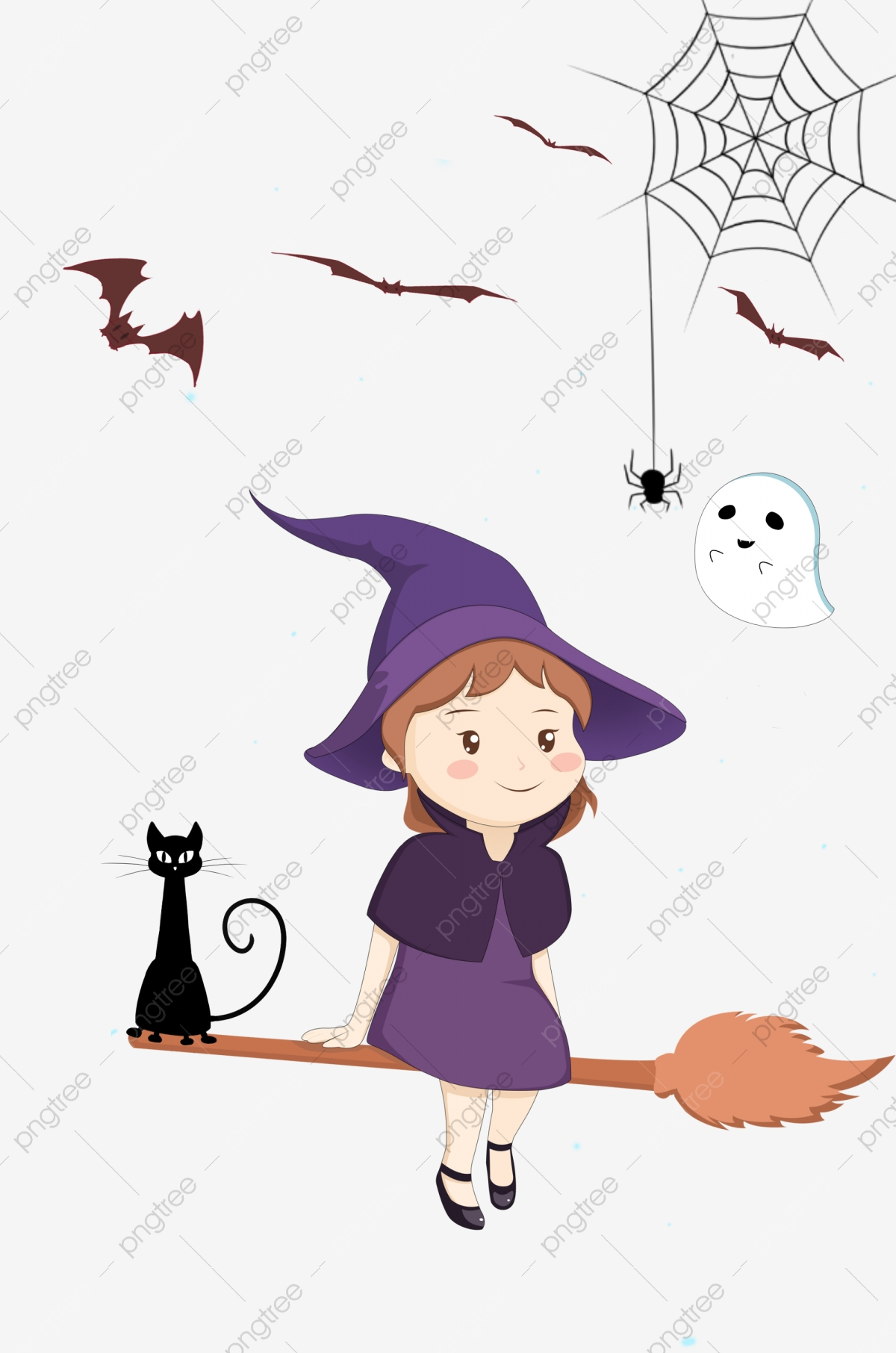 Ragazza carina illustrazione western halloween fantasma festival