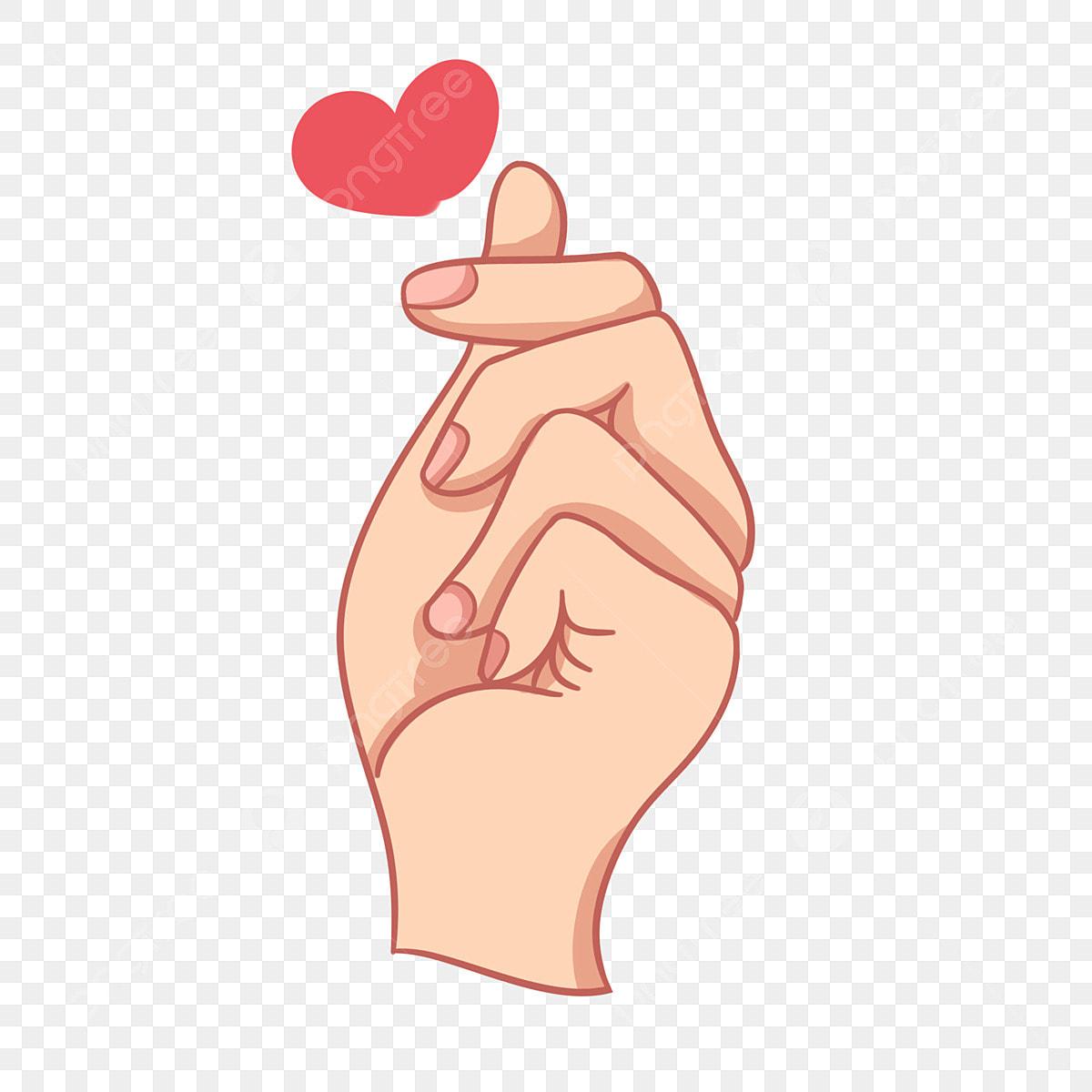 Geste De Coeur Mignon Geste Du Coeur Dessine A La Main Dessin