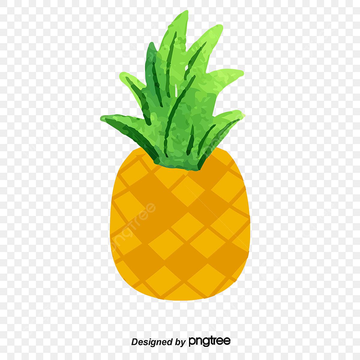 Ananas Rysunek kreskówki ręka rysująca owocowa ananasowa ilustracja pyszne