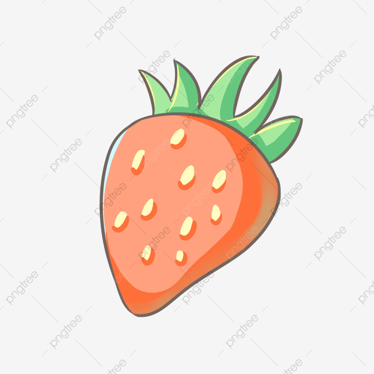 Strawberry Cartoon Png Vector Psd And Clipart With Transparent Background For Free Download Pngtree