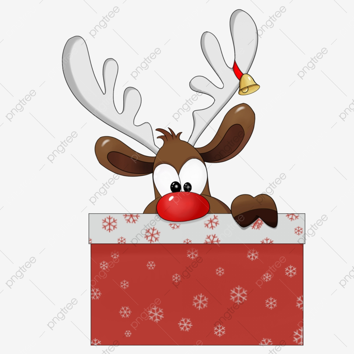 Collection of Christmas Deer - Illustration Clipart Image