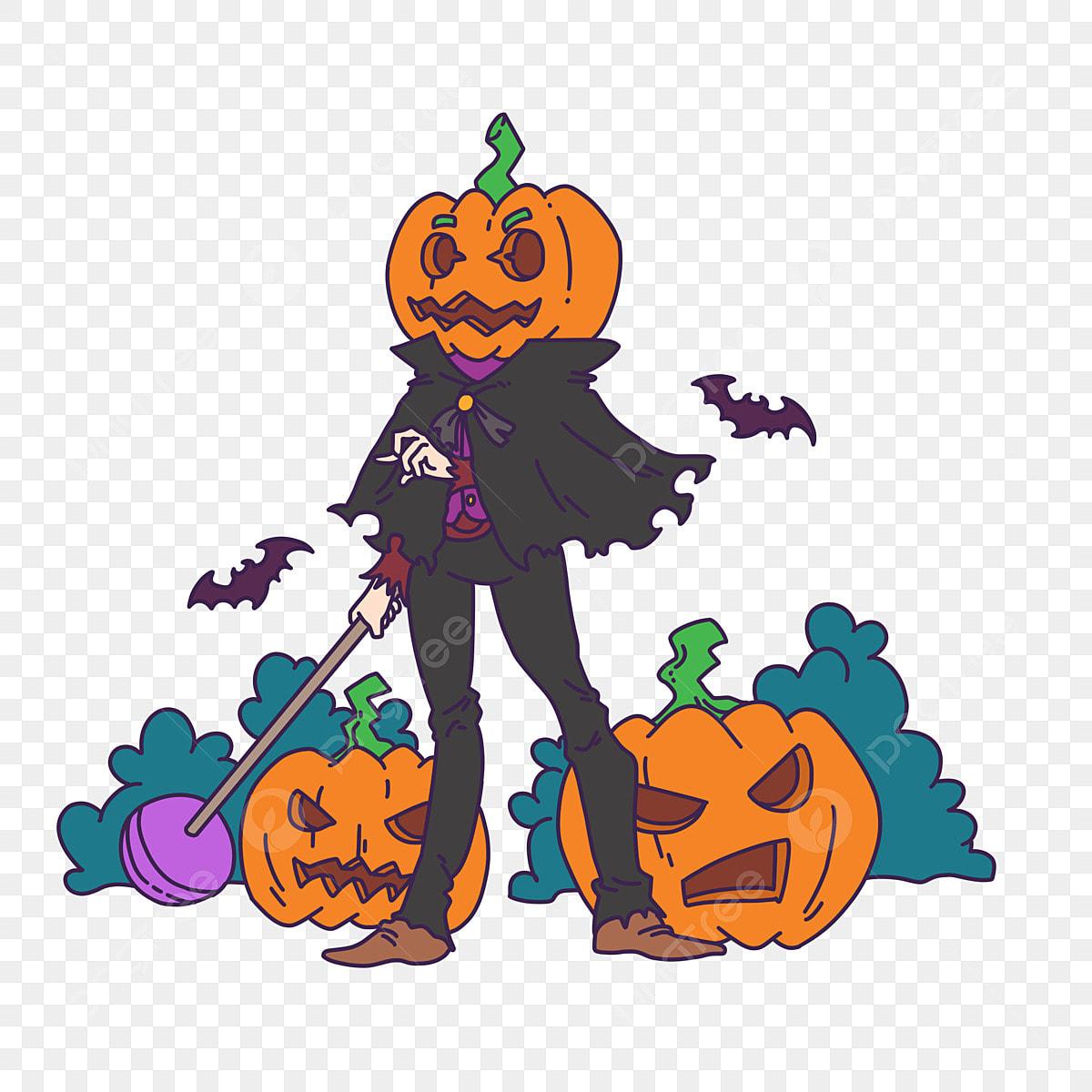 Semangat Jahat Hantu Seram Halloween Kartun Karnival