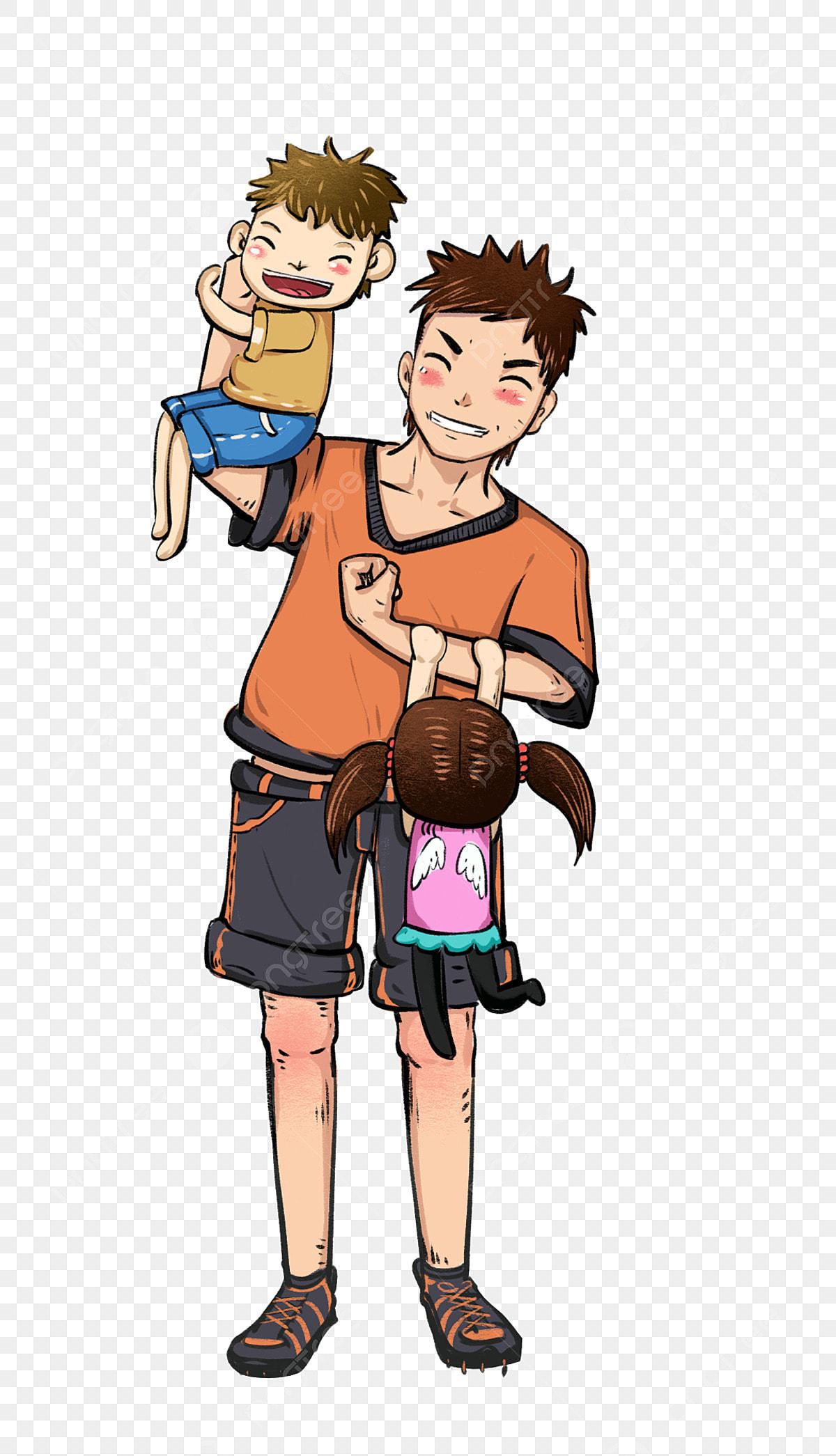 Gambar Bapa Anak Lelaki Daughter Watak Kartun Yang Ditarik Tangan Ayah Dan Anak Perempuan Watak Kartun Yang Ditarik Tangan Watak Hari Bapa Png Dan Psd Untuk Muat Turun Percuma