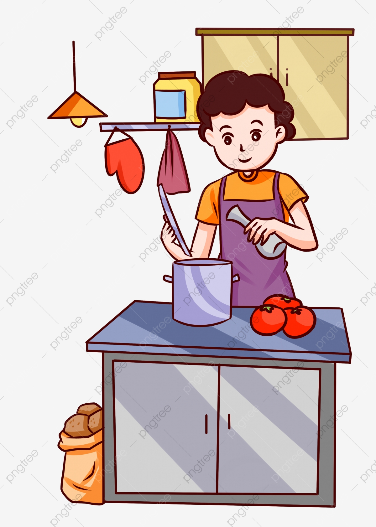 Food Cooking Housewife Soup Add Seasoning Illustration Food Png Transparent Clipart Image And Psd File For Free Download