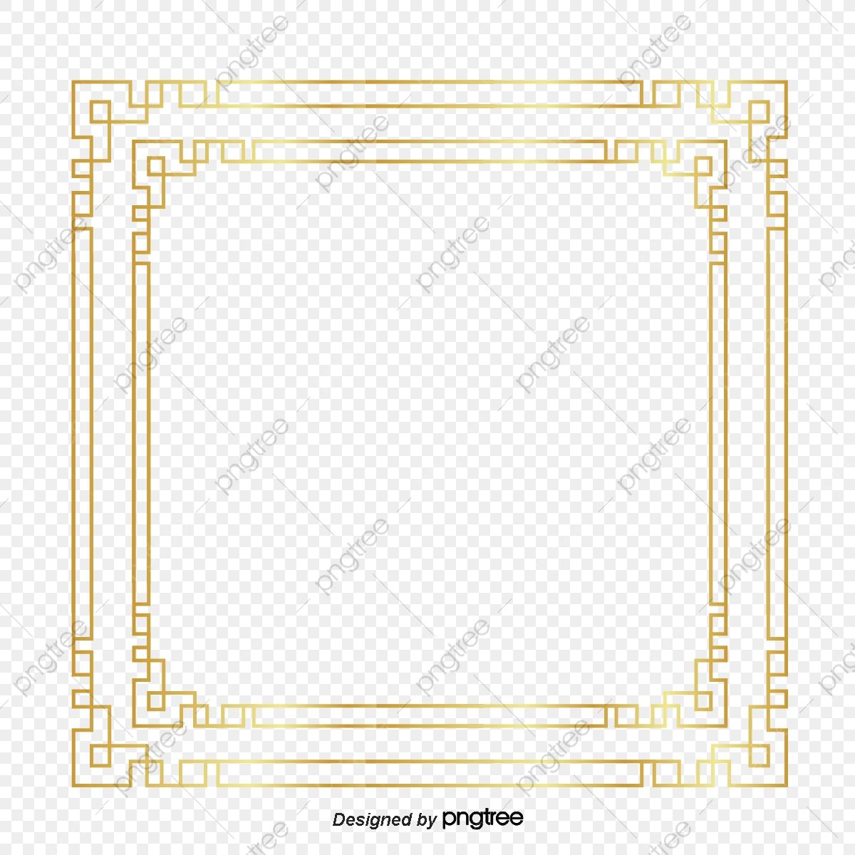 Golden Gradient Border Design For Chinese Wind Border
