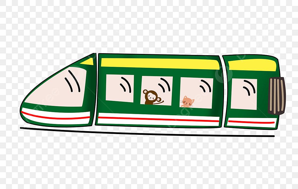 Gambar Kereta Api Kartun Berwarna Gambar Kereta Kulit Hijau Kereta Api Kartun Kenderaan Kereta Membawa Haiwan Comel Keretapi Png Dan Psd Untuk Muat Turun Percuma