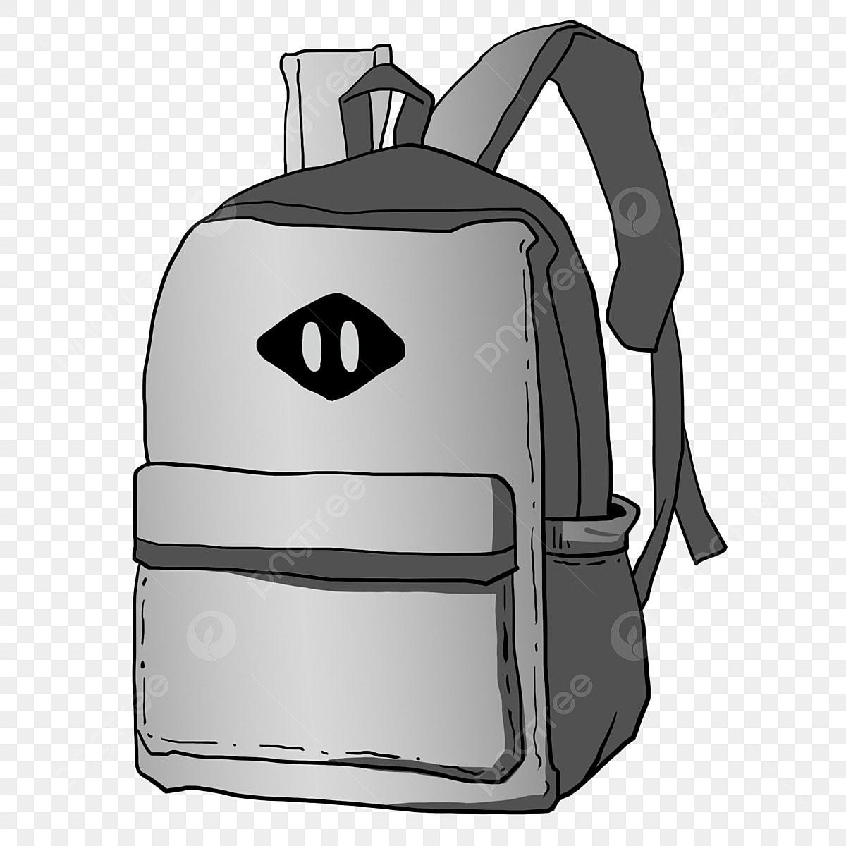 Gambar Ilustrasi Beg Sekolah Hiasan Beg Sekolah Berwarna Kelabu Cantik Tangan Dicat Beg Sekolah Beg Fesyen Beg Sekolah Besar Png Dan Psd Untuk Muat Turun Percuma