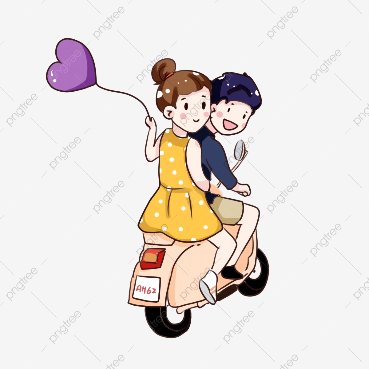 Cartoon Couple PNG Vector And PSD Files