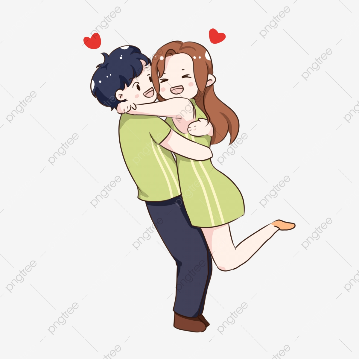 Main Main Dessin Anime Deux Verts Bd Saint Valentin Mignon Q