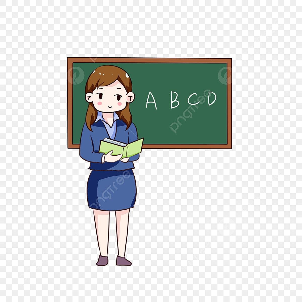 Guru Kecantikan Hari Guru Kartun Tangan Guru Perempuan
