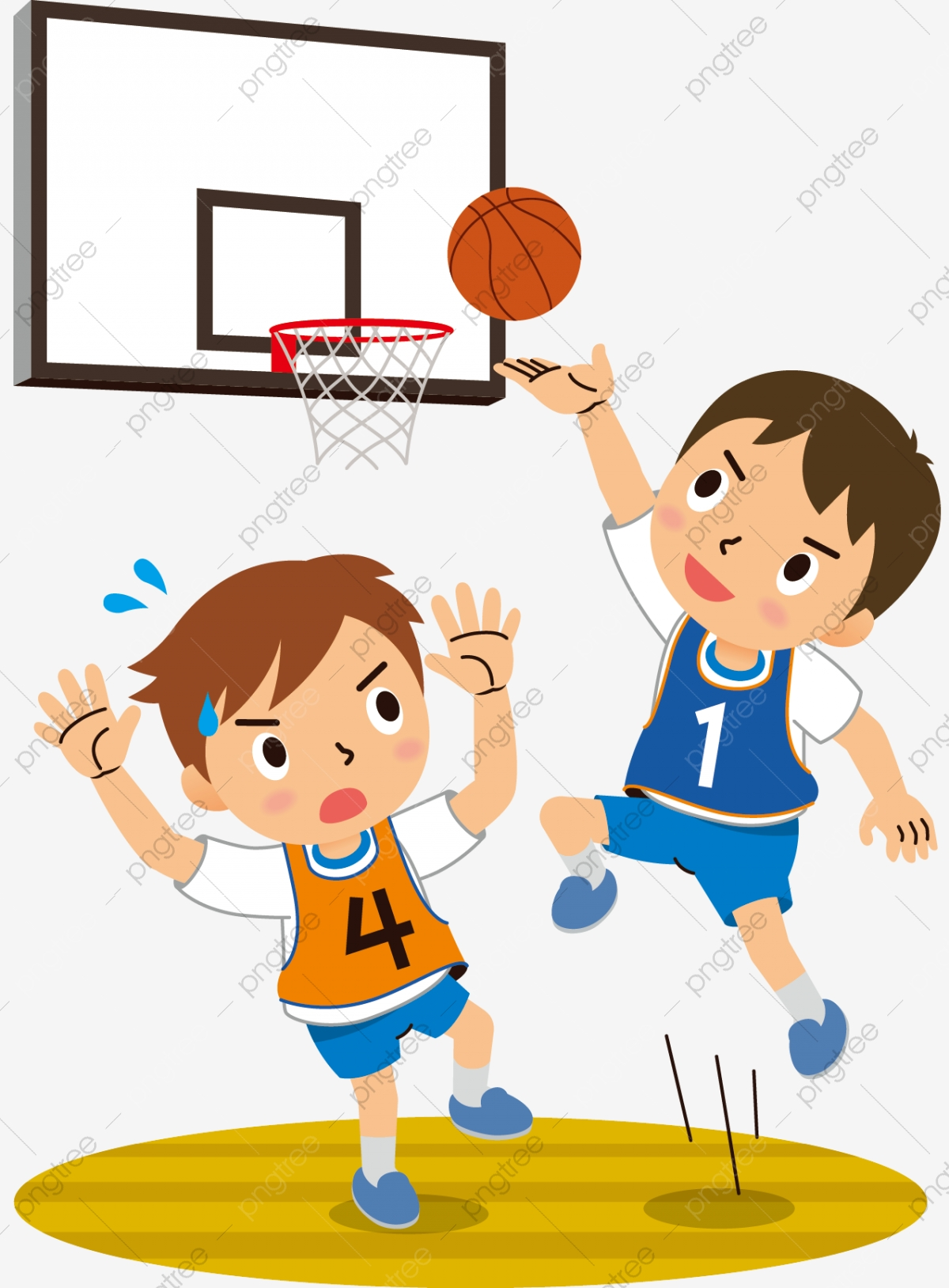 Hand Drawn Cartoon Teenager Playing Basketball Childrens Day Motion Play Basketball Jump Cute Cartoon Childrens Day Png And Vector With Transparent Background For Free Download