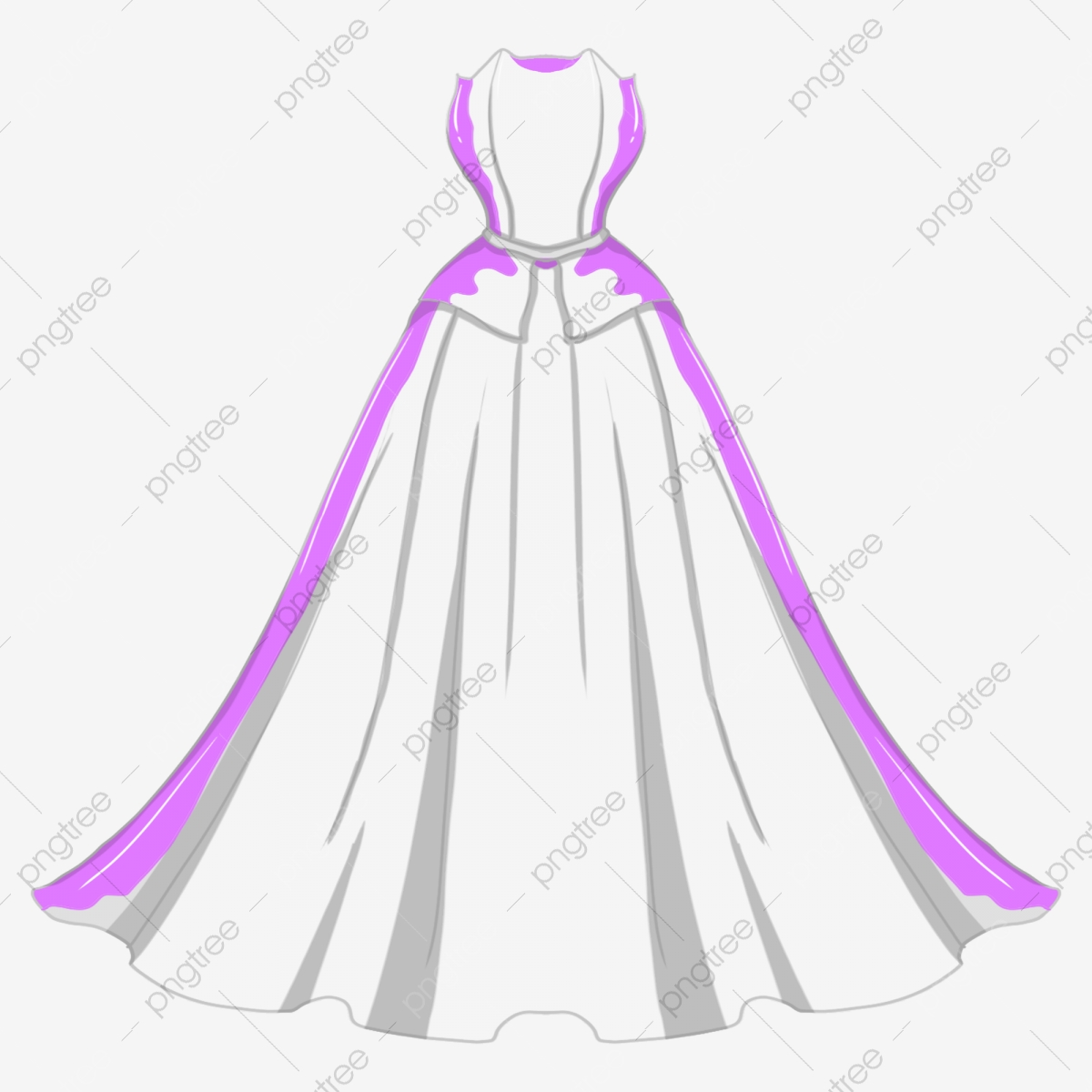 Purple Wedding Dress Clipart