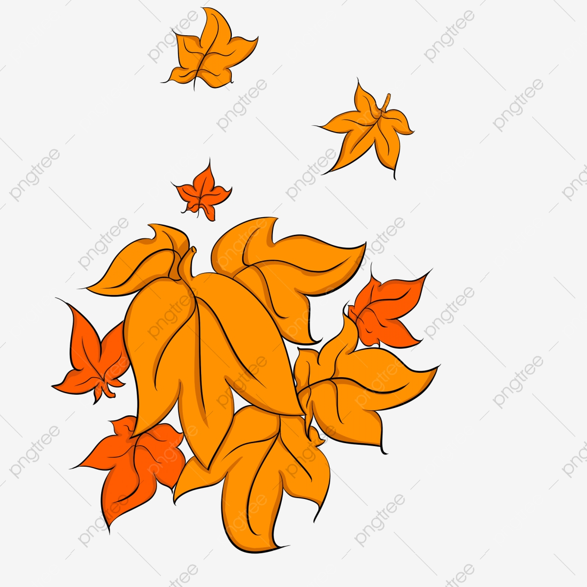 Hand Drawn Leaves A Pile Of Yellow Leaves Maple Leaf Red Maple Fallen Leaves Cartoon Maple Leaf Red Leaves Png Transparent Clipart Image And Psd File For Free Download