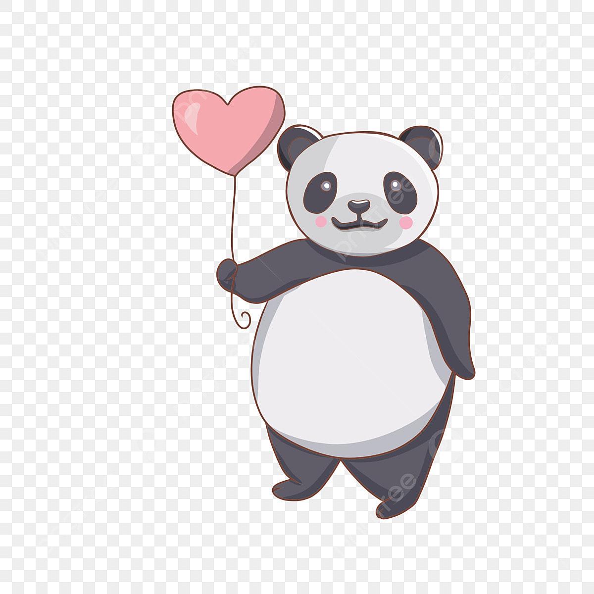 Dibujado A Mano Dibujos Animados Amor Romantico Animales Panda