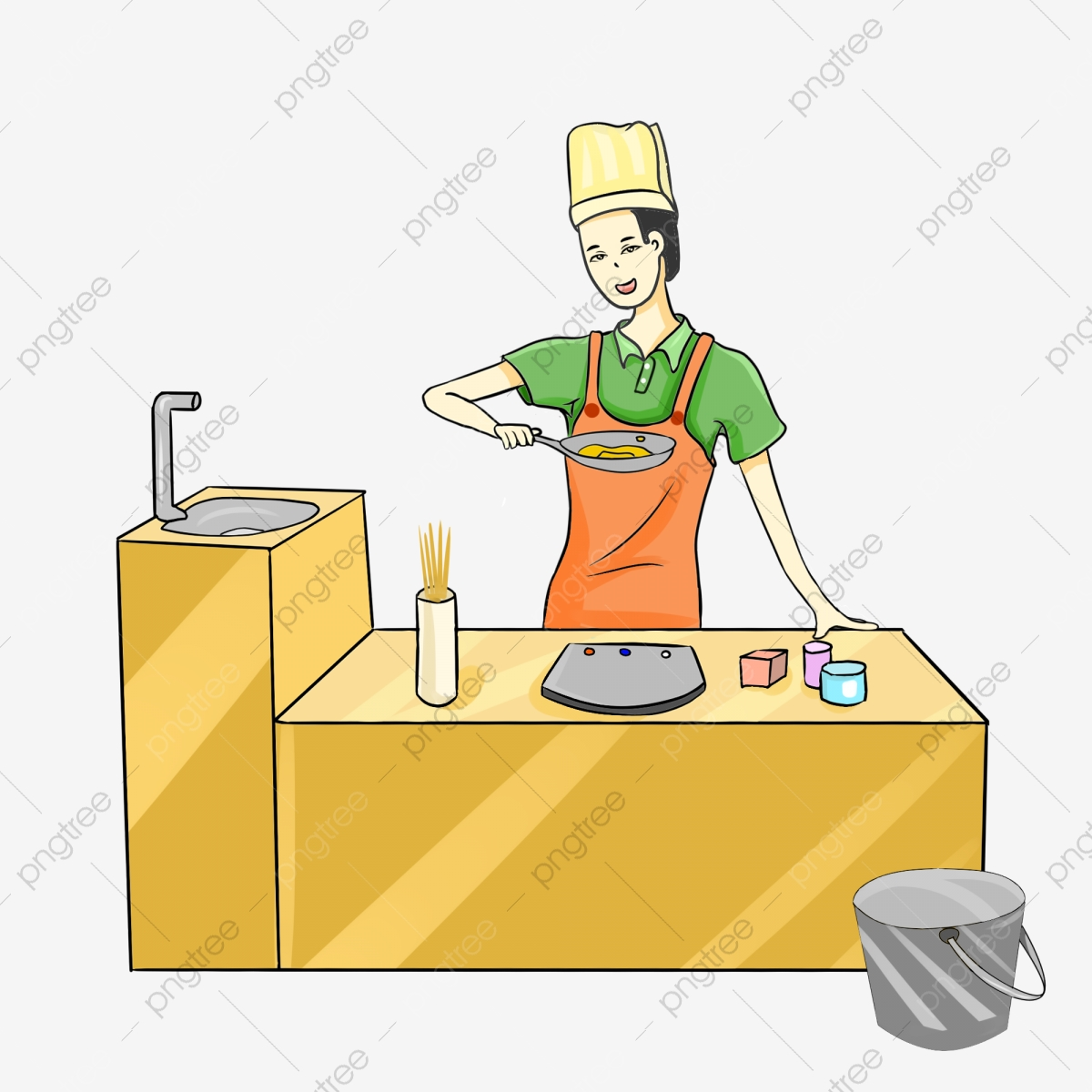 Chef in the pot Clipart | k28735190 | Fotosearch