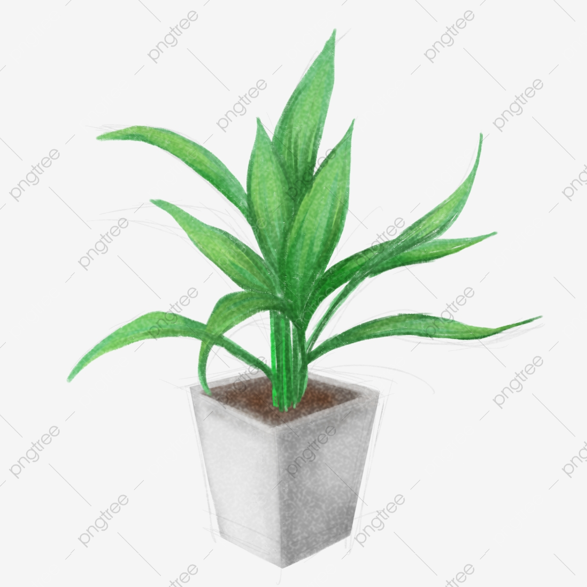 225 & Hand Painted Green Leaf Bamboo Green Leaves White Flower Pot ...