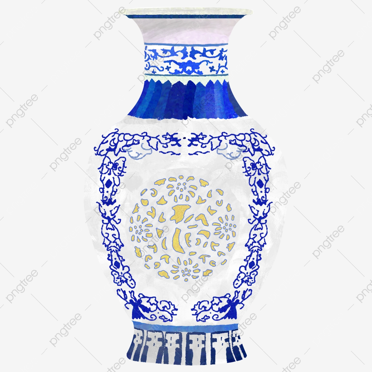 Hand Painted Painting Blue And White Porcelain Bottle Blue And White Porcelain Porcelain Png Classical Png Transparent Clipart Image And Psd File For Free Download