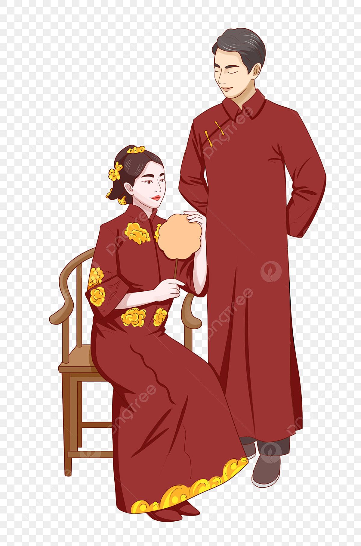 Tangan Ditarik Tradisional Pakaian Pengantin Lelaki Dan