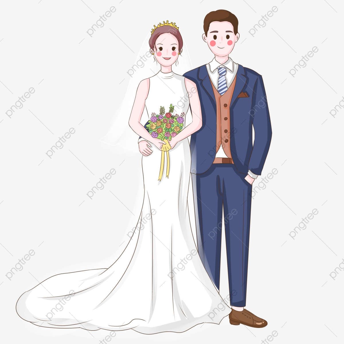 Bride And Groom Clipart Vector PSD And Clipart With