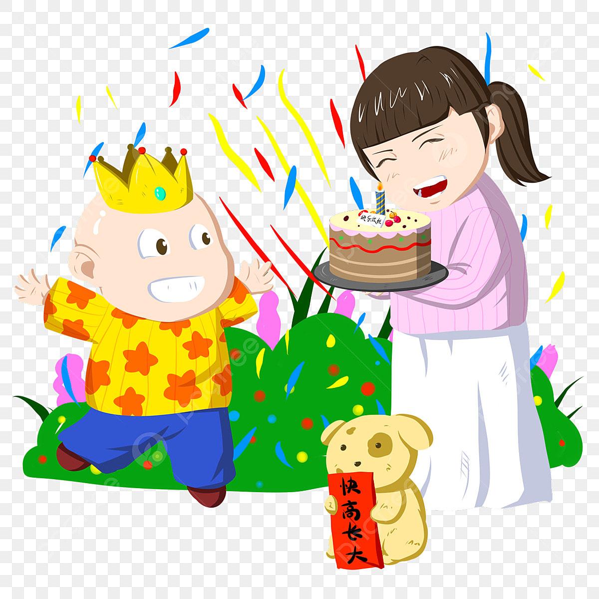 Marvelous Happy Birthday Little Boy Birthday Blessing Illustration Yellow Funny Birthday Cards Online Inifofree Goldxyz